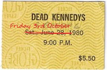 dead kennedys ticket